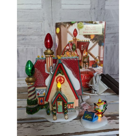 Dept 56 799997 brite lites bulb factory North Pole